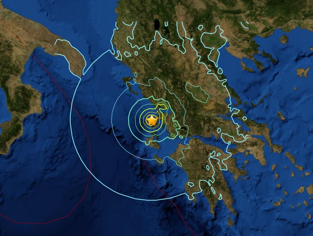 Greece earthquake felt area
