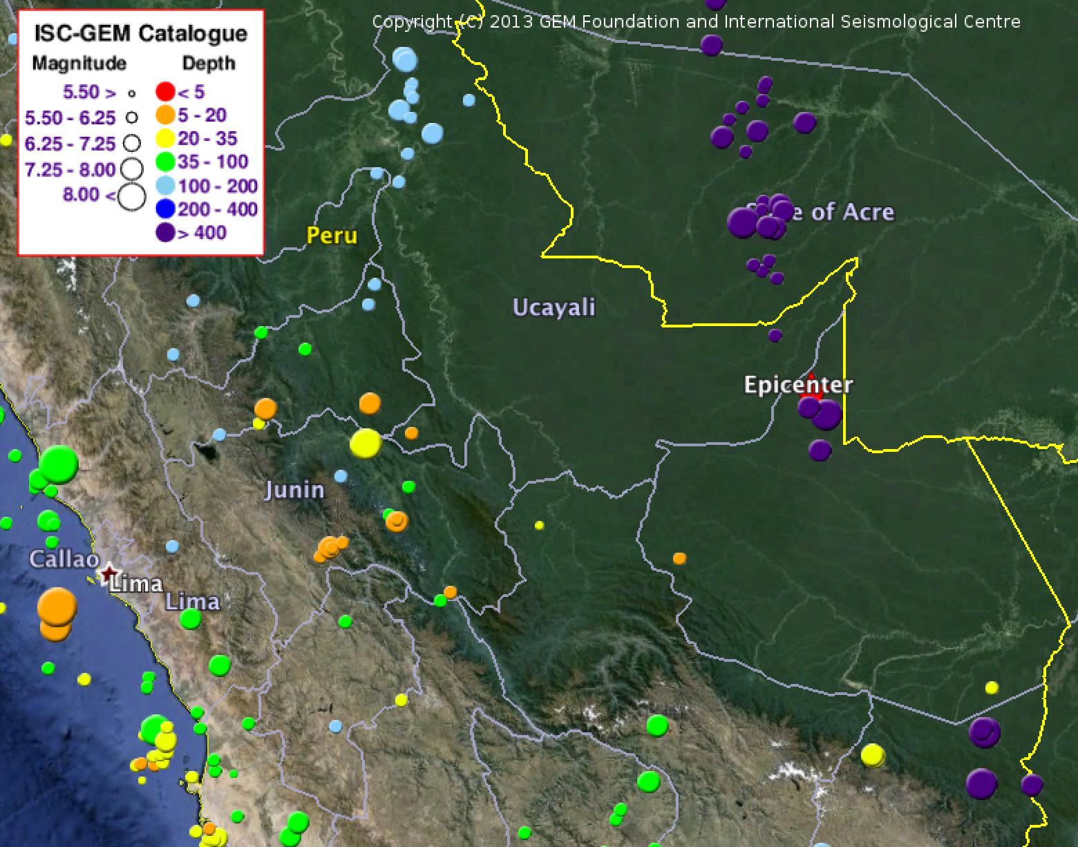 Peru-brazil-earthquakes