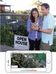 Alley and Dan shop for homes in Sausalito, California, with their eyes open using Temblor
