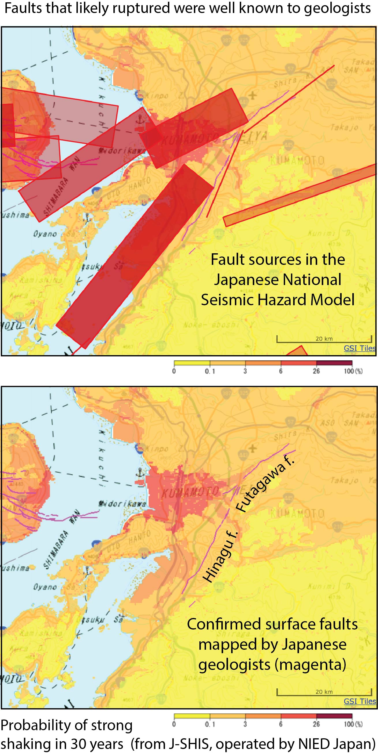 The excellent J-SHIS Japanese seismic hazard app is available in the App Store
