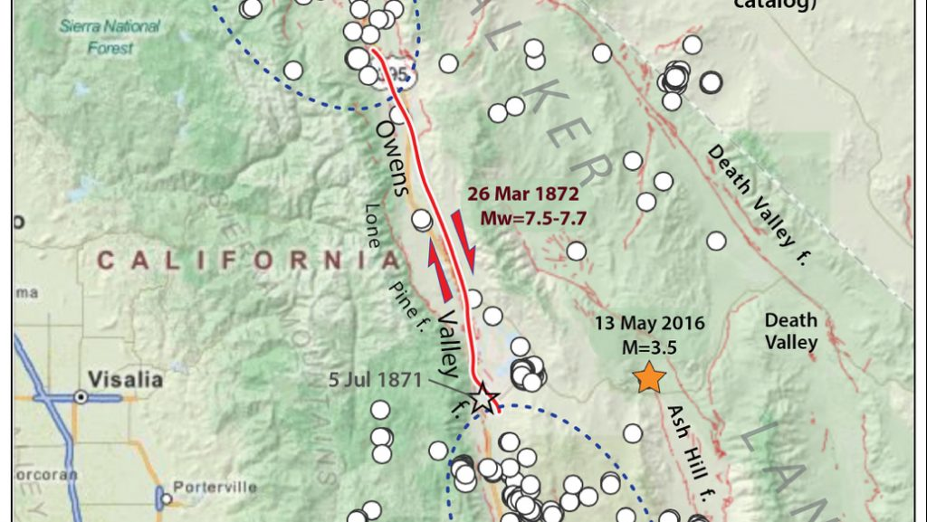 Eastern California S Intense Seismic And Geothermal Activity