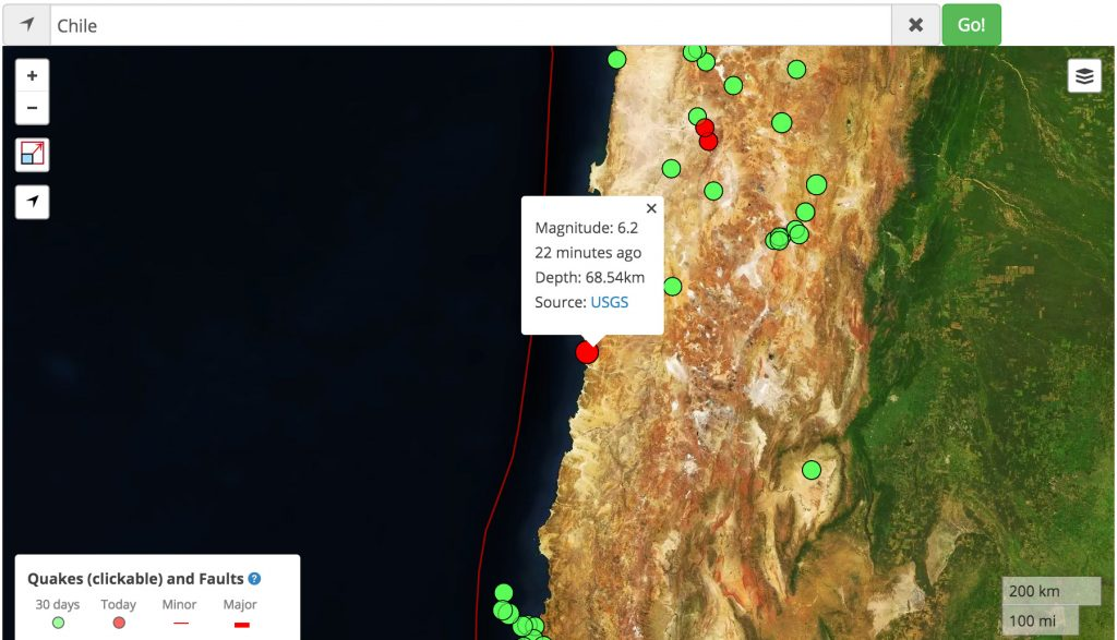 M6.2 Chile earthquake
