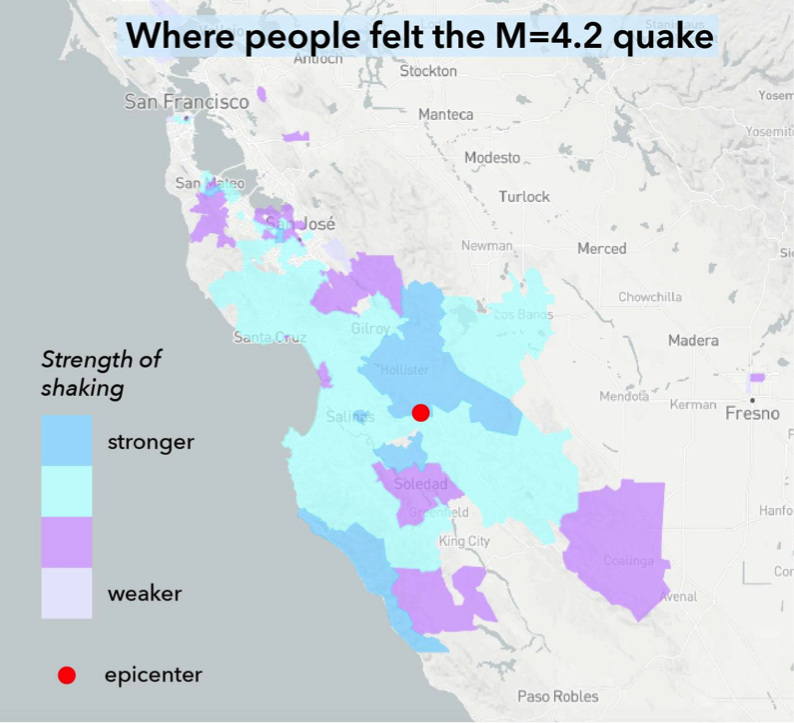 hollister earthquake swarm was felt by about 300,000 californians