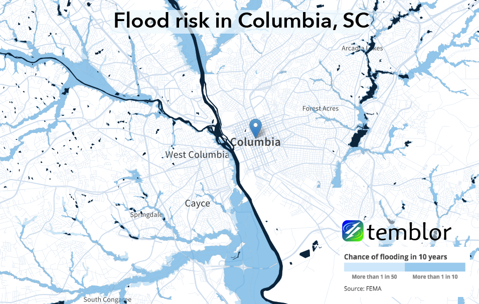 Columbia-flood-map-temblor-01 – Temblor.net on map of salt lake city ut, map of arizona, map of columbia canada, map of downtown columbia, south carolina county map sc, map of jacksonville al, map beach s.c.muytal, map of east tennessee and north carolina, map of columbia tn, map georgia sc, map of detroit metro airport parking, map of columbia mx, map of south carolina, map of ft leonard wood mo, map of columbia mo, map of new york city ny, map of spartanburg nc, map of north carolina clover, map of west columbia, map of north topsail beach nc,