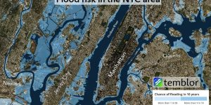 Flood risk in the New York City metropolitan area.