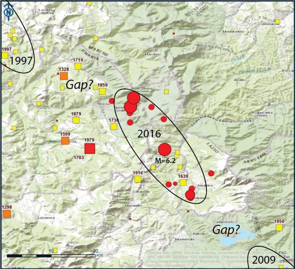 Rieti Italy Map.Italy Earthquake Leaves Seismic Gaps Temblor Net