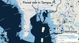 Flood risk for the Tampa, Florida, region.