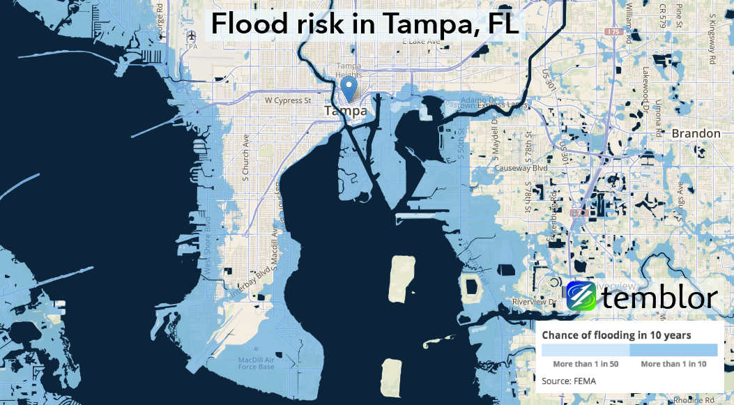 TampaFLfloodmaptemblor Temblornet - Where is tampa on map of us