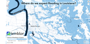 Much of the Baton Rouge, LA, area is located in a FEMA-designated flood zone.