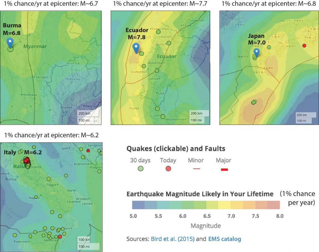 Burma_Japan_Equador_Italy_earthquake_maps