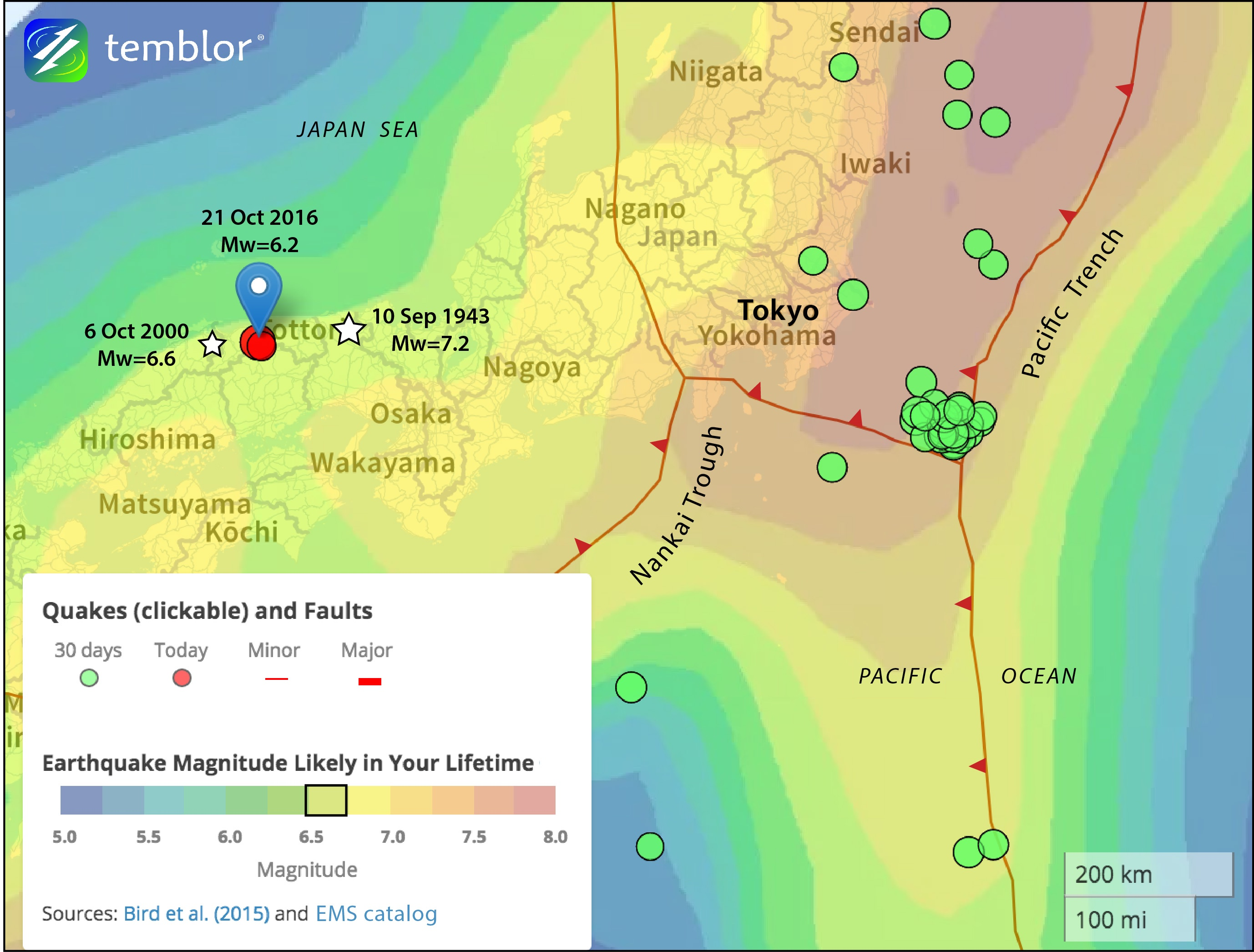 ... Japan earthquake strikes between two recent large shocks | Temblor.net