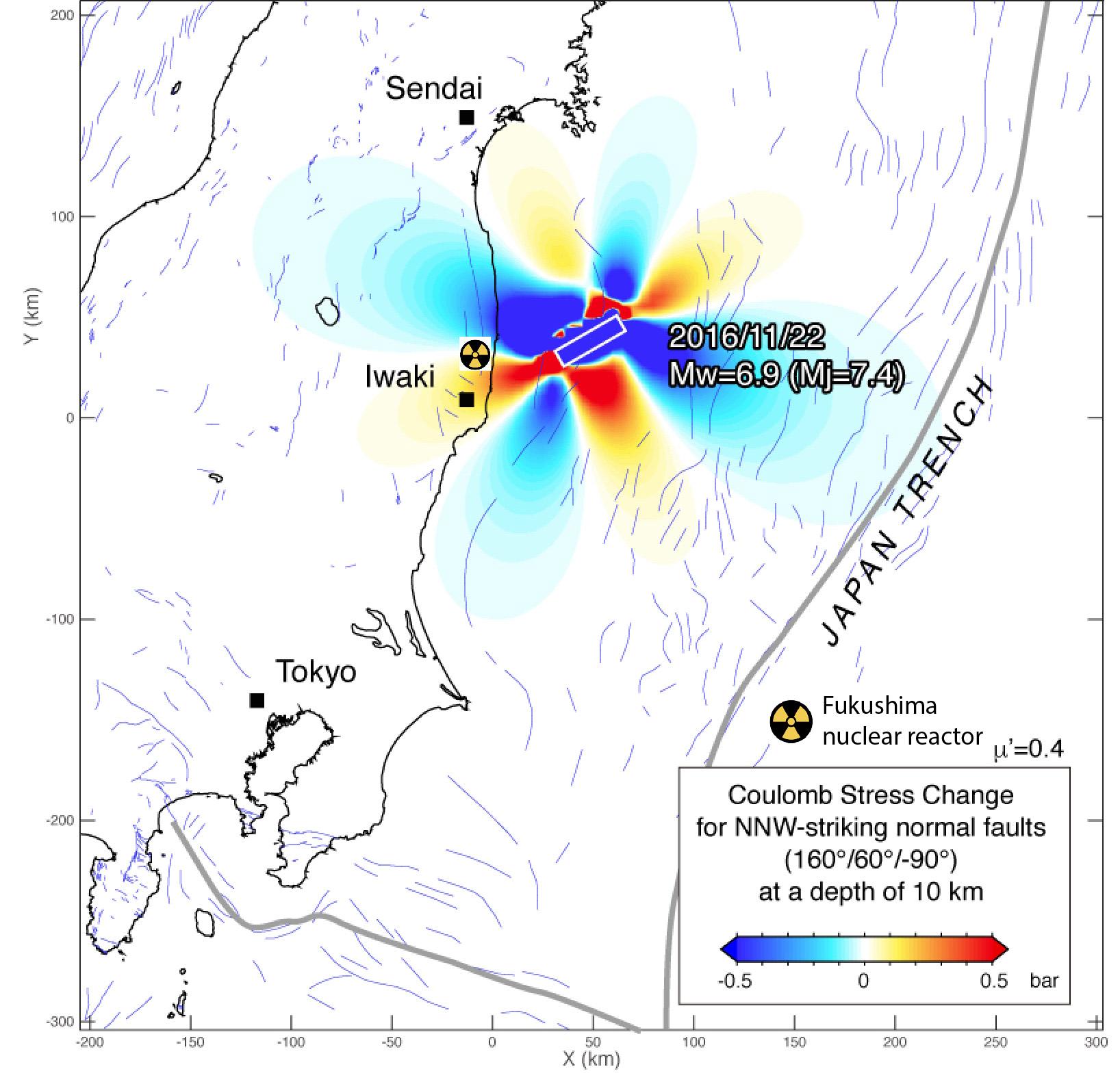 Japanearthquakemapcoulombanalysisfukushima Temblornet - Japan quake map 2016