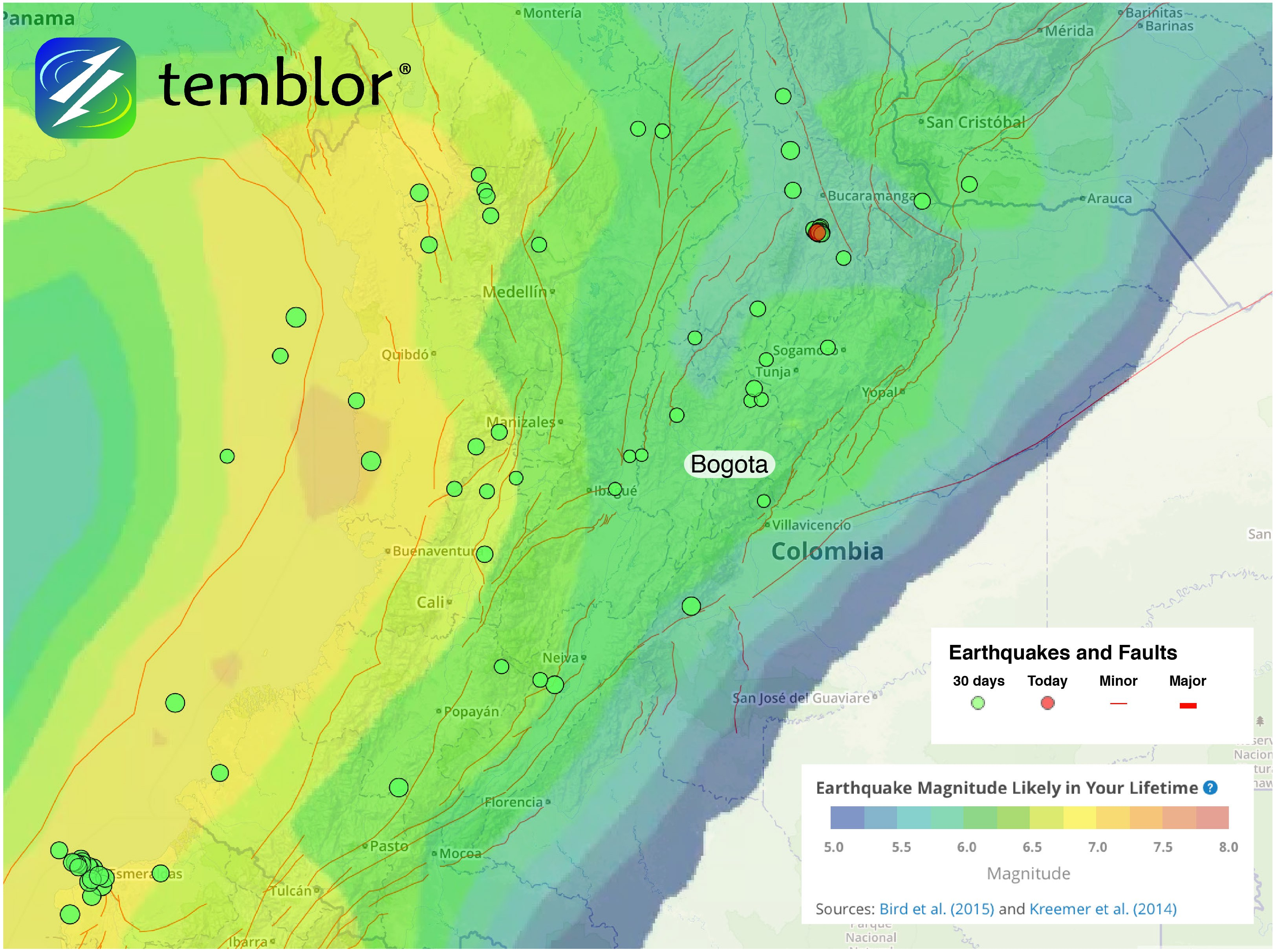 Colombia-Fault-Map