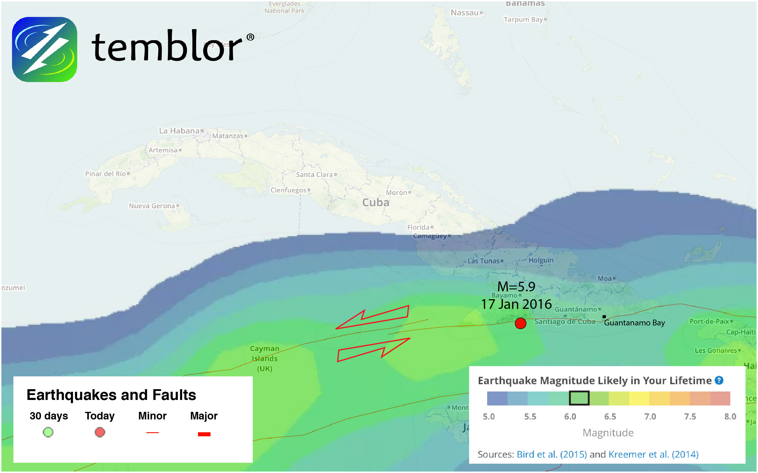 cuba-earthquake-map-cuba-fault-map-guantanamo-bay