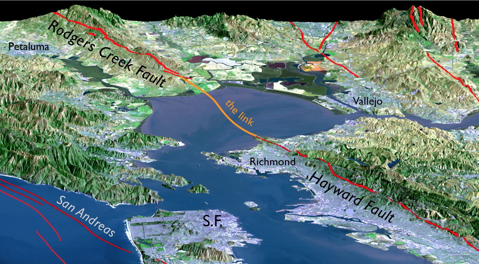 Haywardrodgerscreekfaultmapbayareafaultmapsanandreas - Map of the san andreas fault