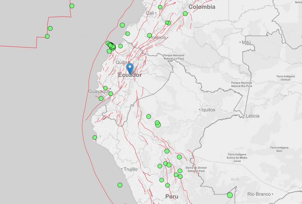 Map Of South America 2017.Ecuador Peru And Colombia Faults Hint Where Large Earthquakes