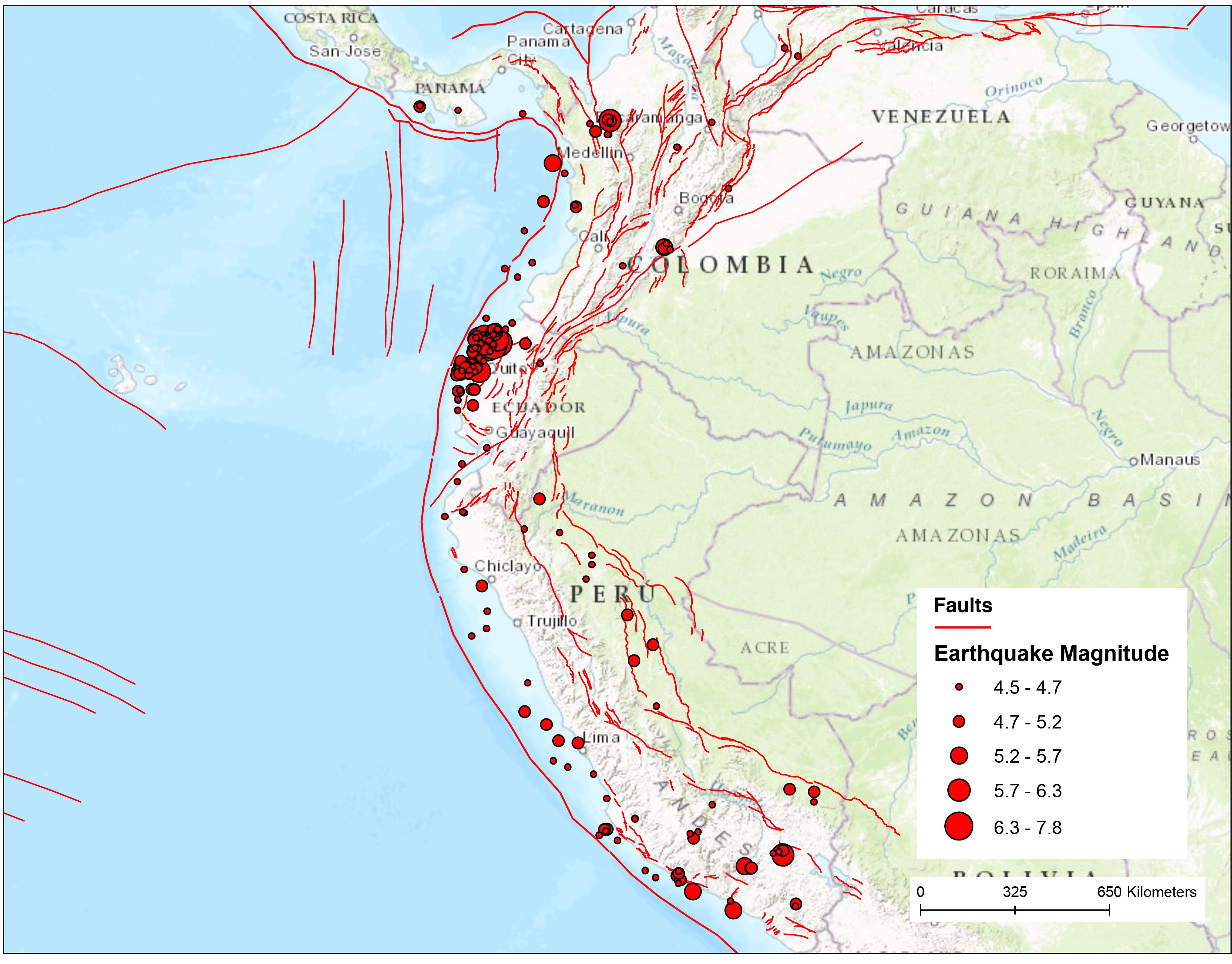 South-America-Fault-Map