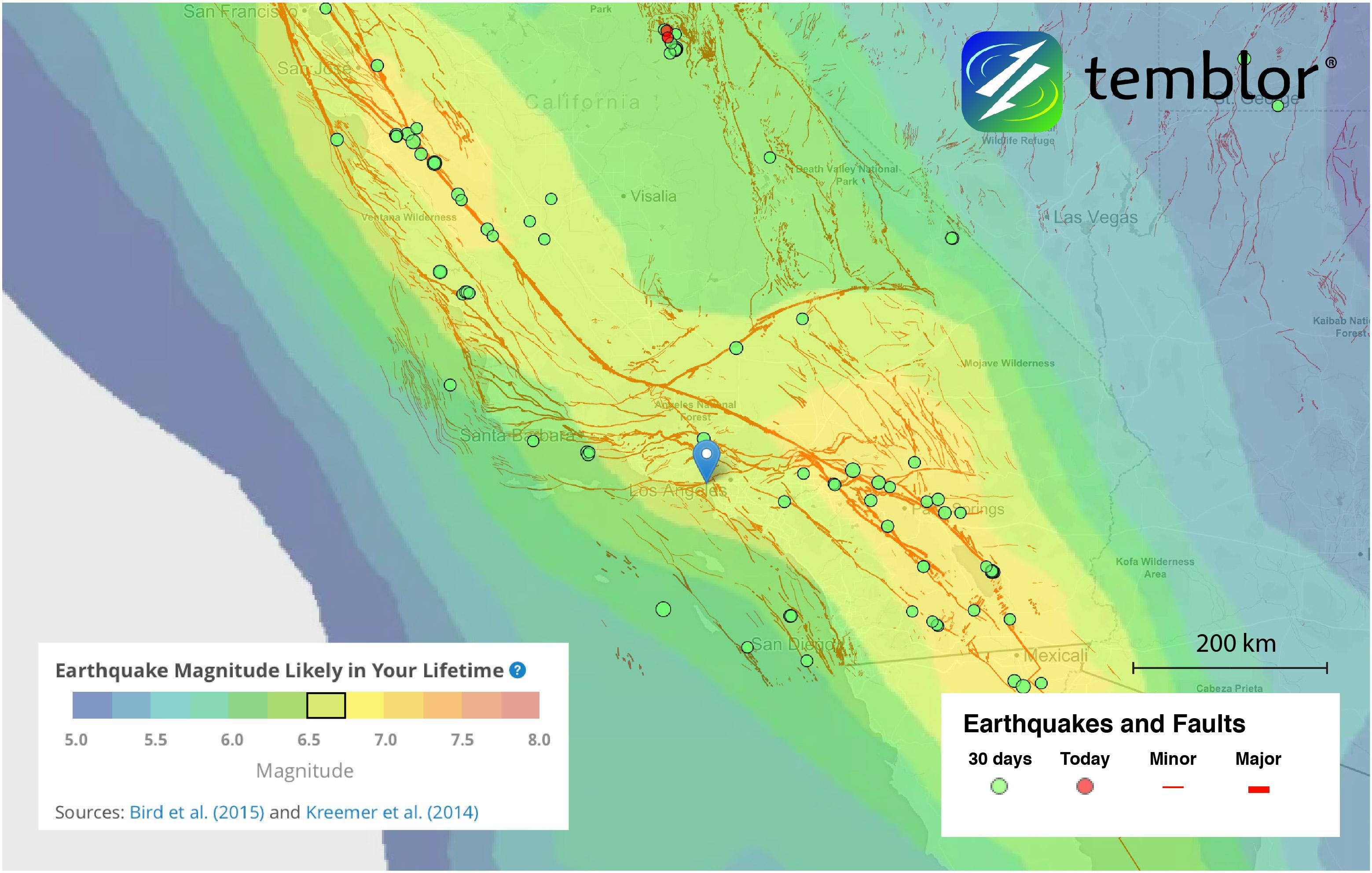 california-earthquake-map
