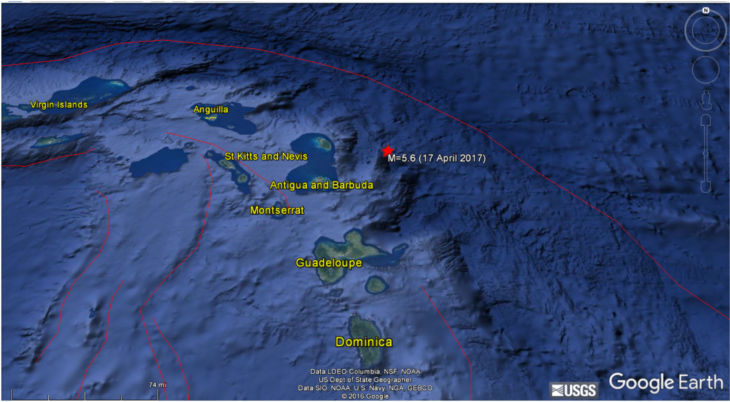 caribbean-earthquake-map