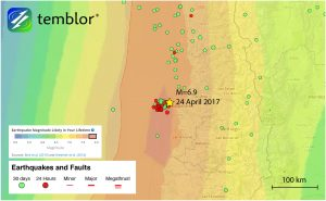 This Temblor map shows the Global Earthquake Activity Rate (GEAR) model, which forecasts the likely earthquake magnitude in your lifetime anywhere on earth. Based on this model, the M=6.9 earthquake which just occurred should not be considered surprising as the region is susceptible to M=7.5 earthquakes.
