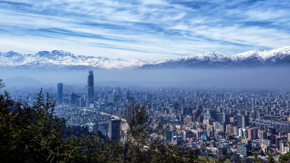 The city of Santiago, Chile is an area susceptible to large earthquakes. Due to the recent swarm of quakes, a M=8.3-8.4 earthquake in the region is now more likely.