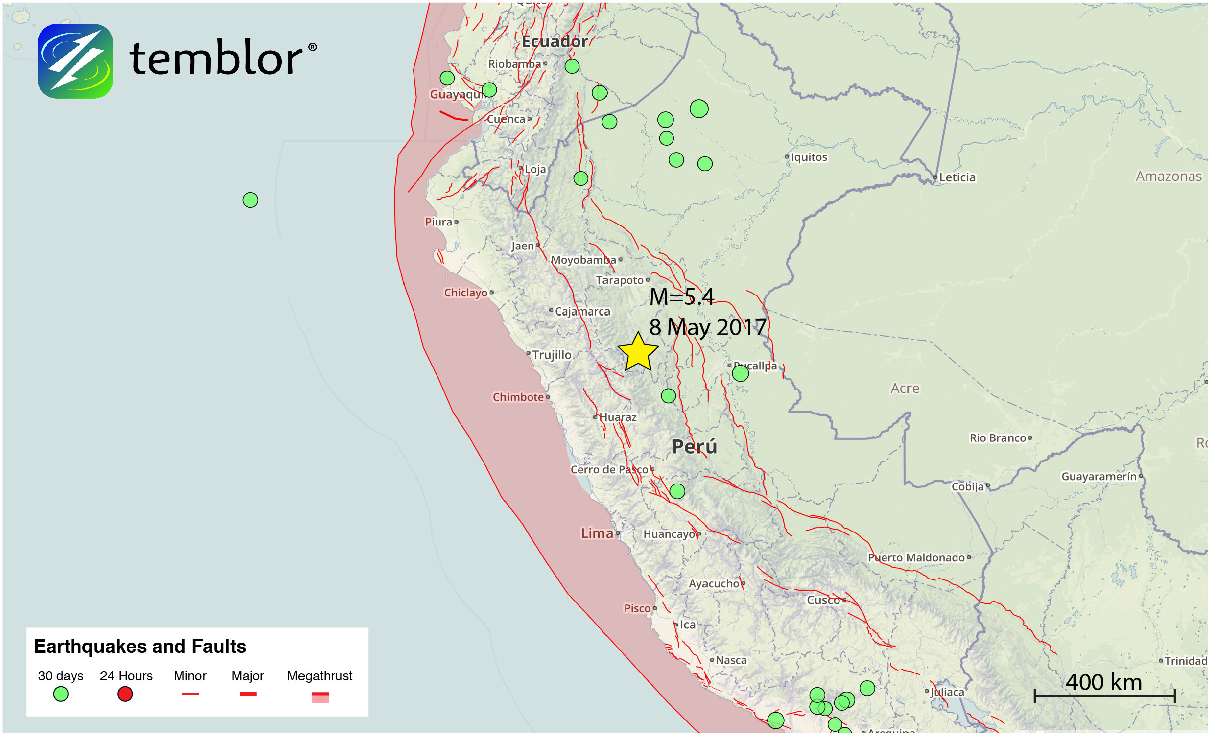 Peru-earthquake-map