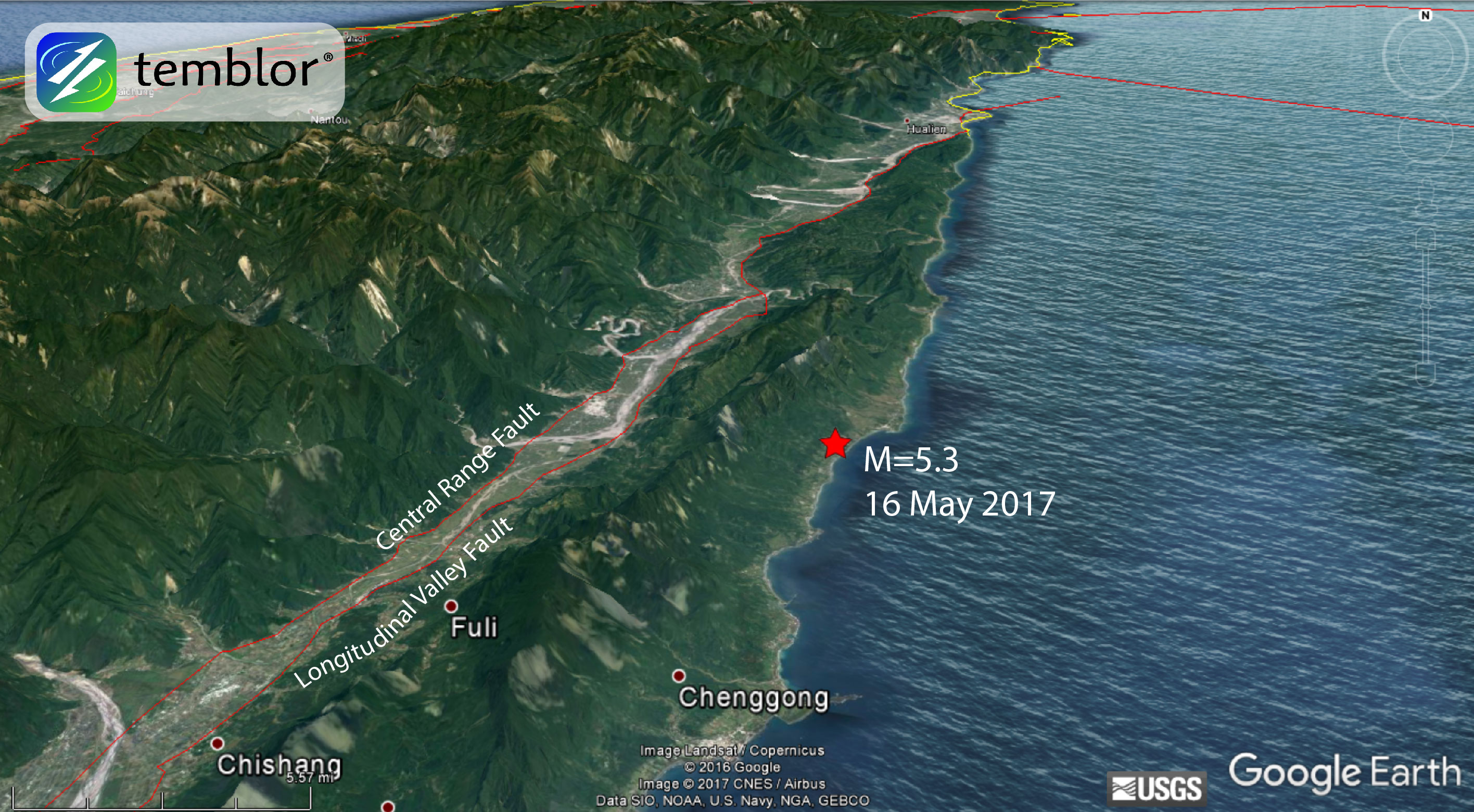 Taiwan-earthquake-map