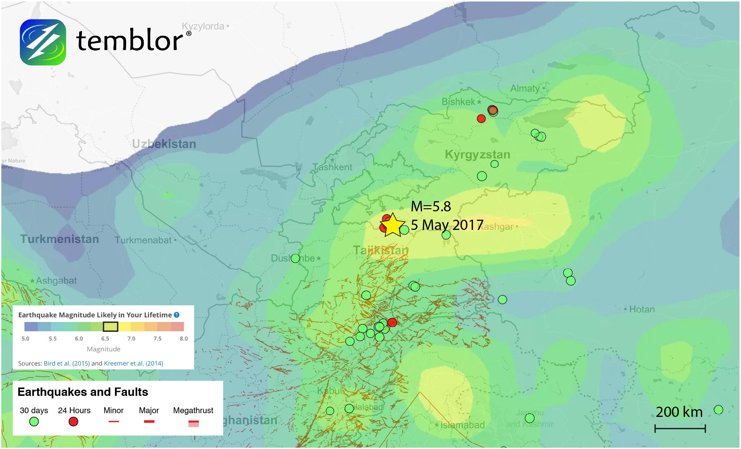 Tajikistan-earthquake-map