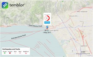 This Temblor map shows the location of last night's M=3.1 earthquake just offshore of Santa Monica. Despite it's small magnitude, it was widely felt in Santa Monica and West Los Angeles.