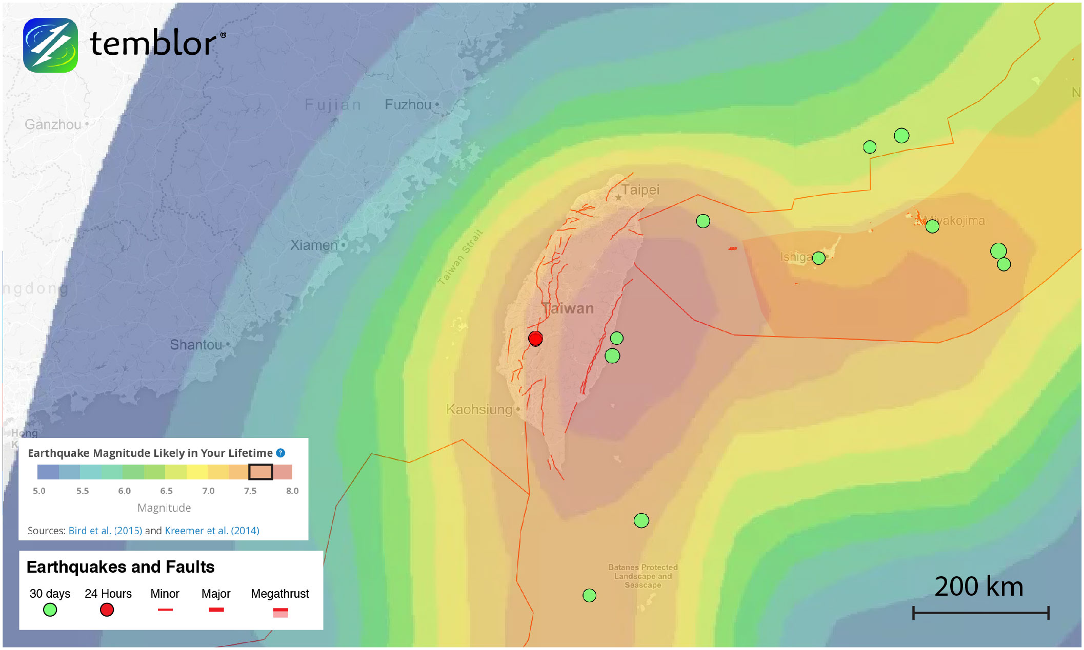 taiwan-earthquake-forecast-map