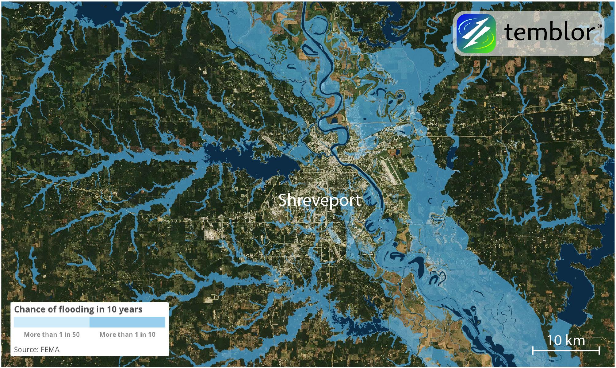 shreveport-louisiana-flood-map