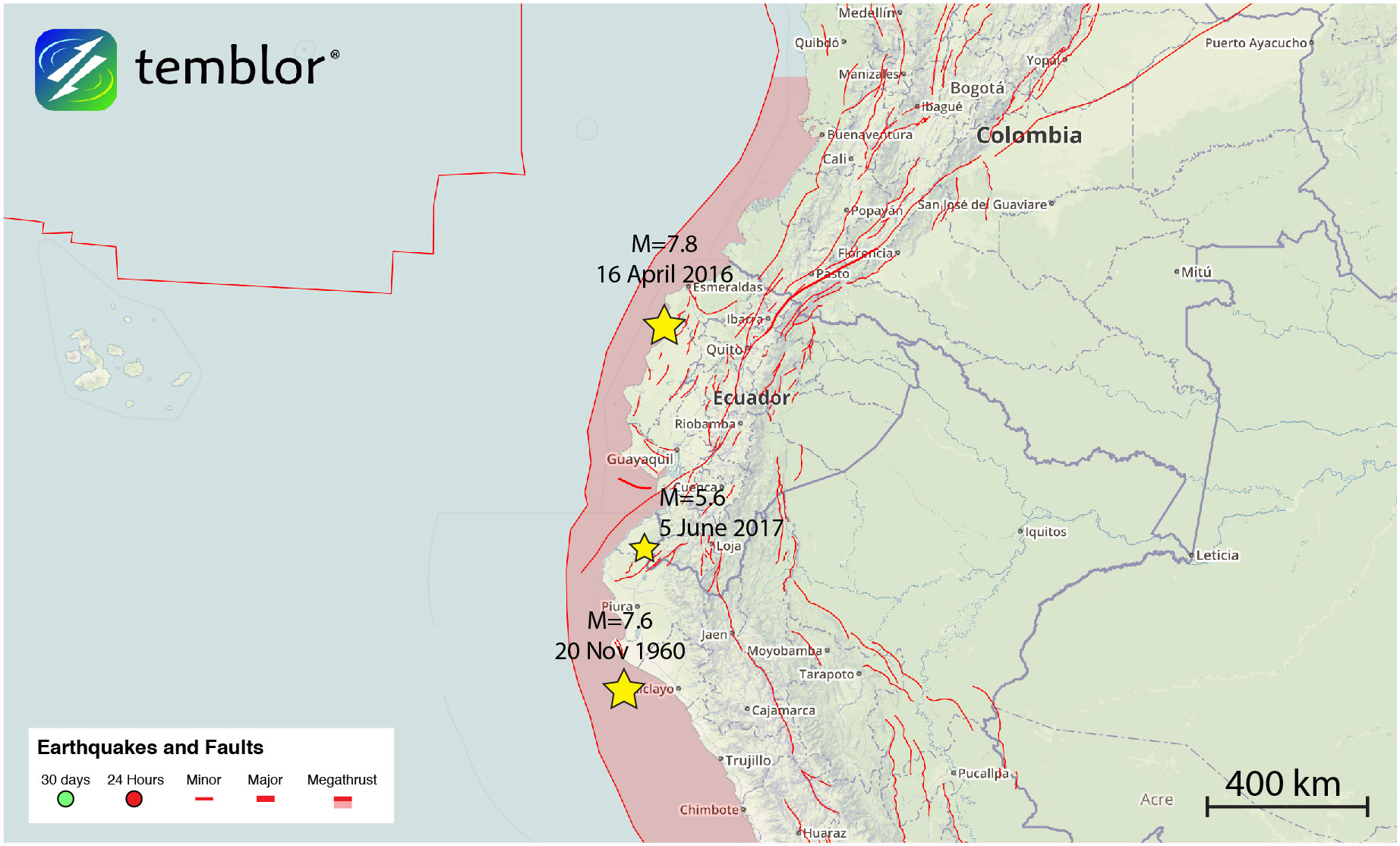 south america earthquakes