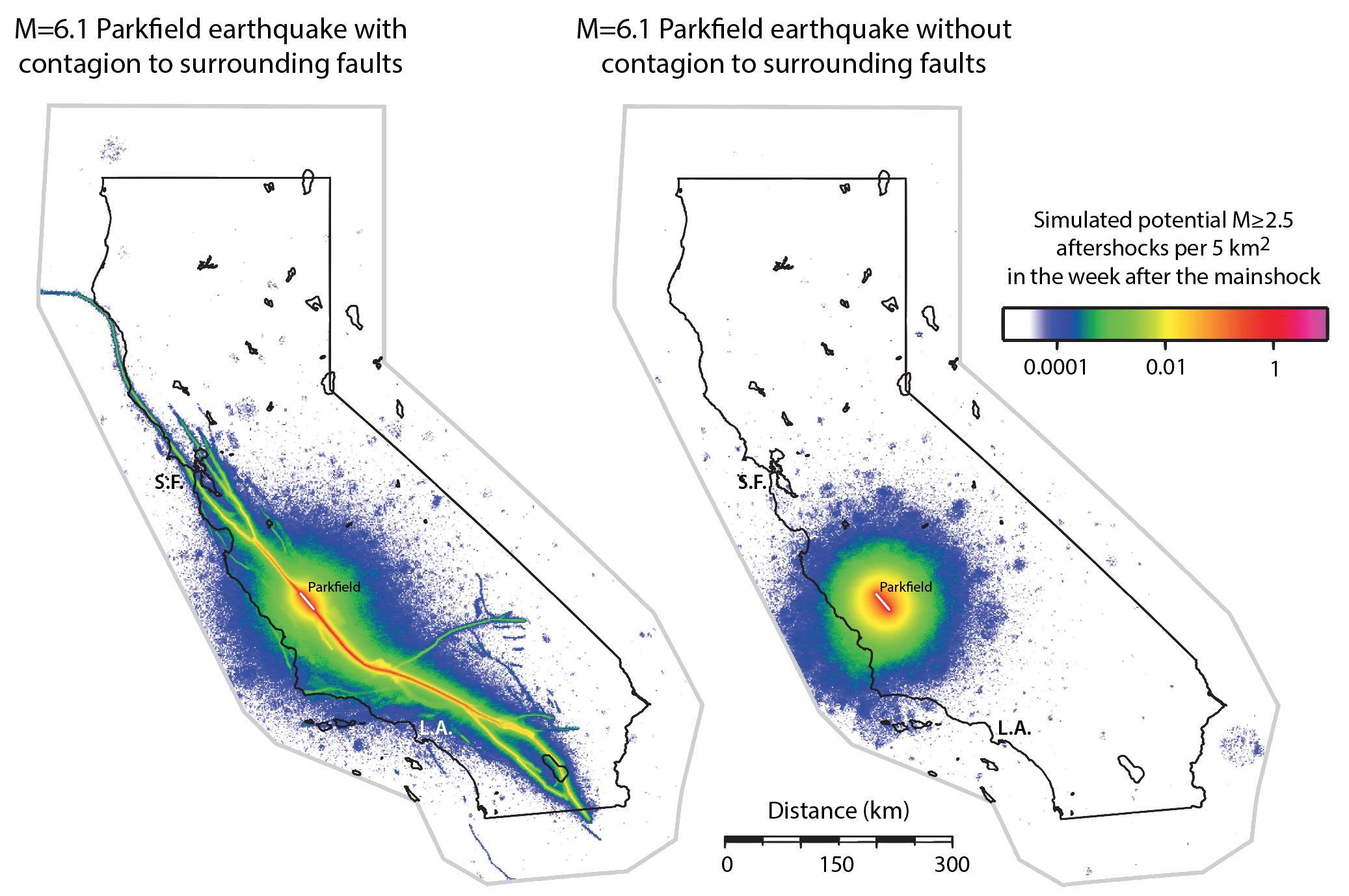 Parkfieldearthquakeaftershockssanandreasfaultmap Temblornet - San andreas fault map