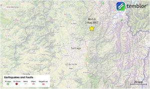 Santiago-earthquake-map