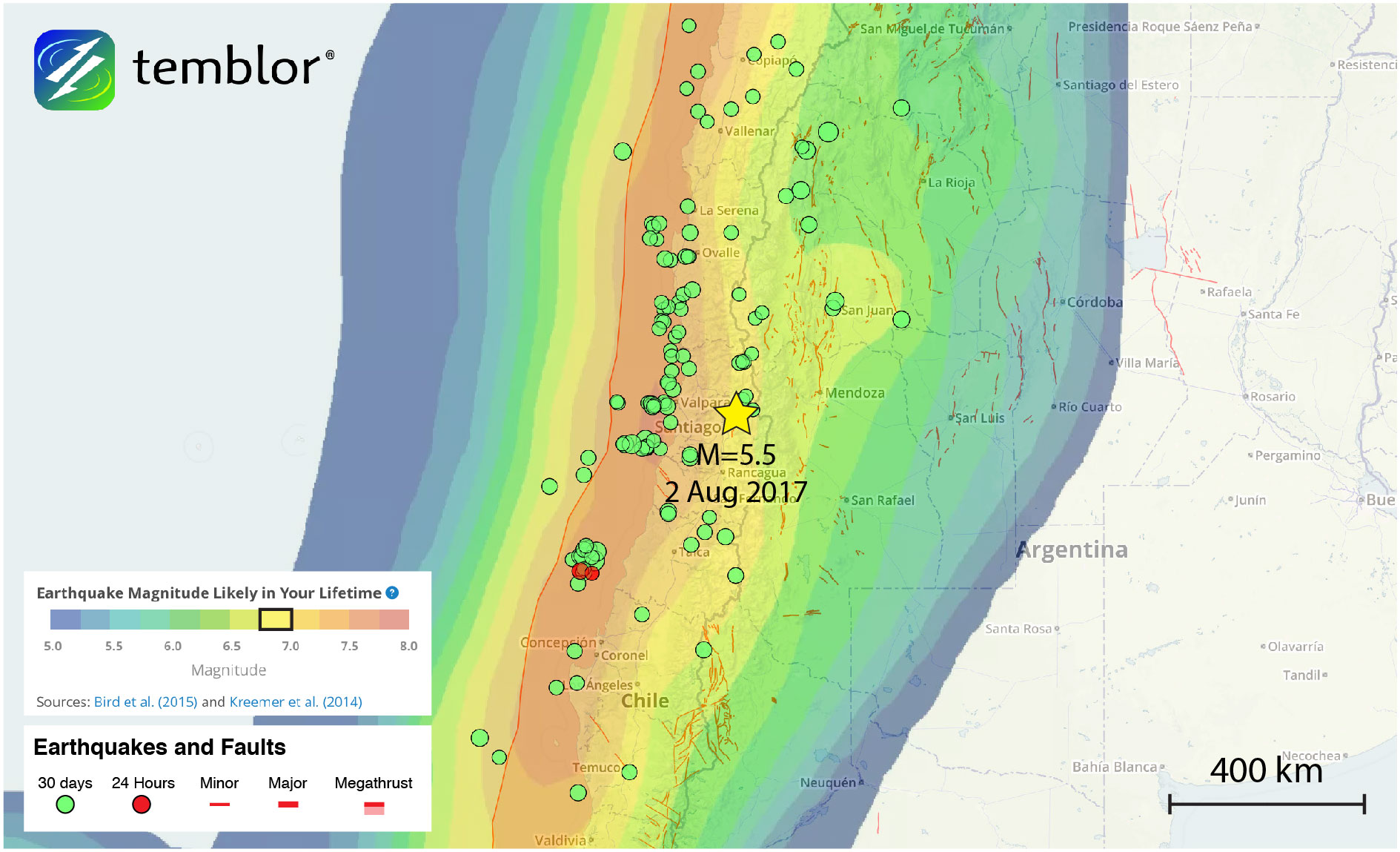Santiago-earthquake-map-gear
