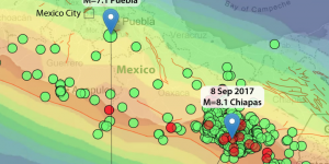 Chiapas and Puebla, Mexico, Earthquakes: Chain Reaction or Coincidence?