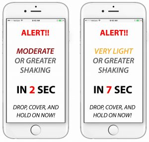 iPhone two screen Temblor Chile (Spanish)