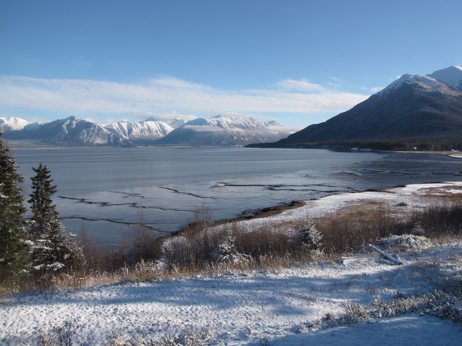 The Turnagain Arm, is in the northwestern part of the Gulf of Alaska, and close to the location of last week's M=4.9 earthquake felt by Lester Lubetkin. (Photo from: Lester Lubetkin)