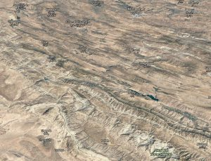 Fold and fault zones lace the Zagros Fold belt