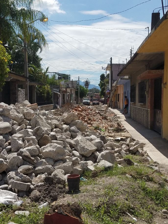Rubble in the streets is not an individual, but rather a community issue. Therefore, Daniel Zepeda believes that earthquake preparation should be a community-wide goal. (Photo from: SEASOC)