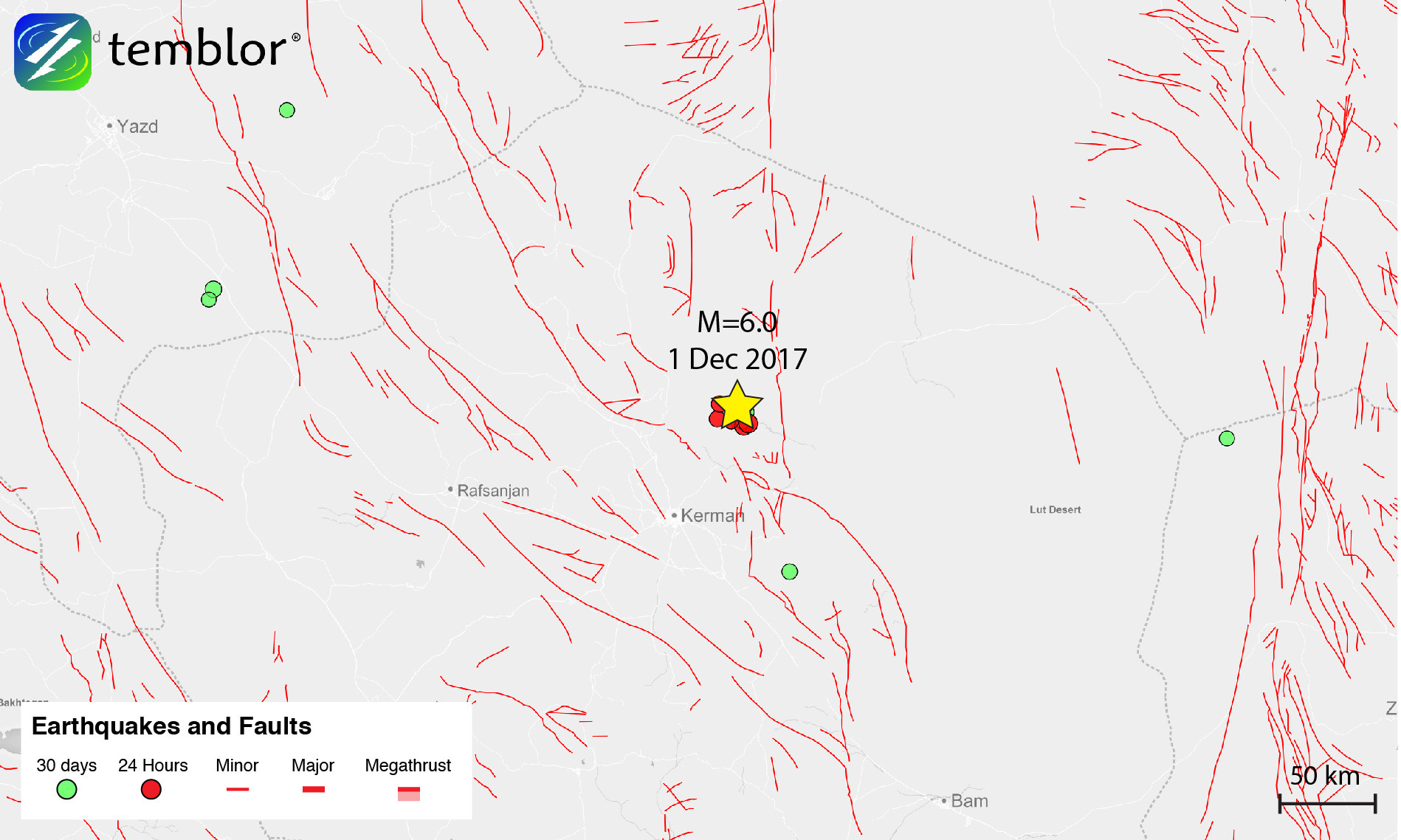 Iran-earthquake-map