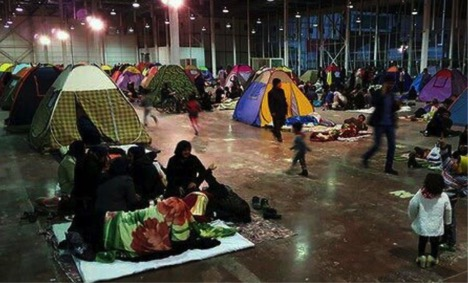 Iranian citizens sleeping in tents following last night's M=4.9 earthquake.