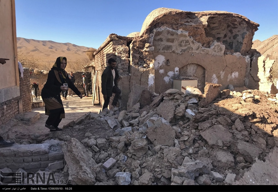 This picture shows damage sustained in last night's M=6.0 earthquake in eastern Iran.