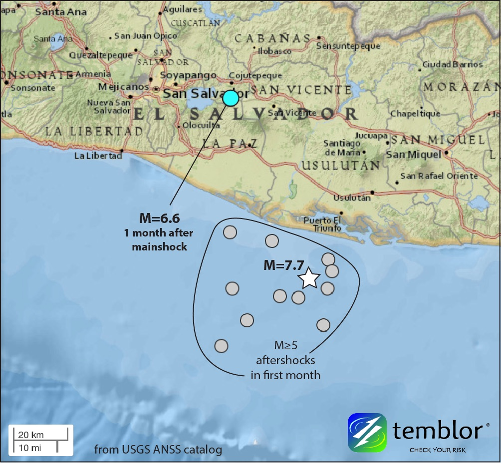 El Salvador Quake Map Temblornet - Map of el salvador