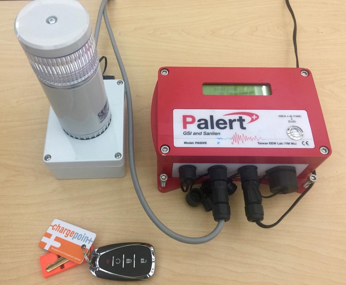 Palert instrument and strobe light