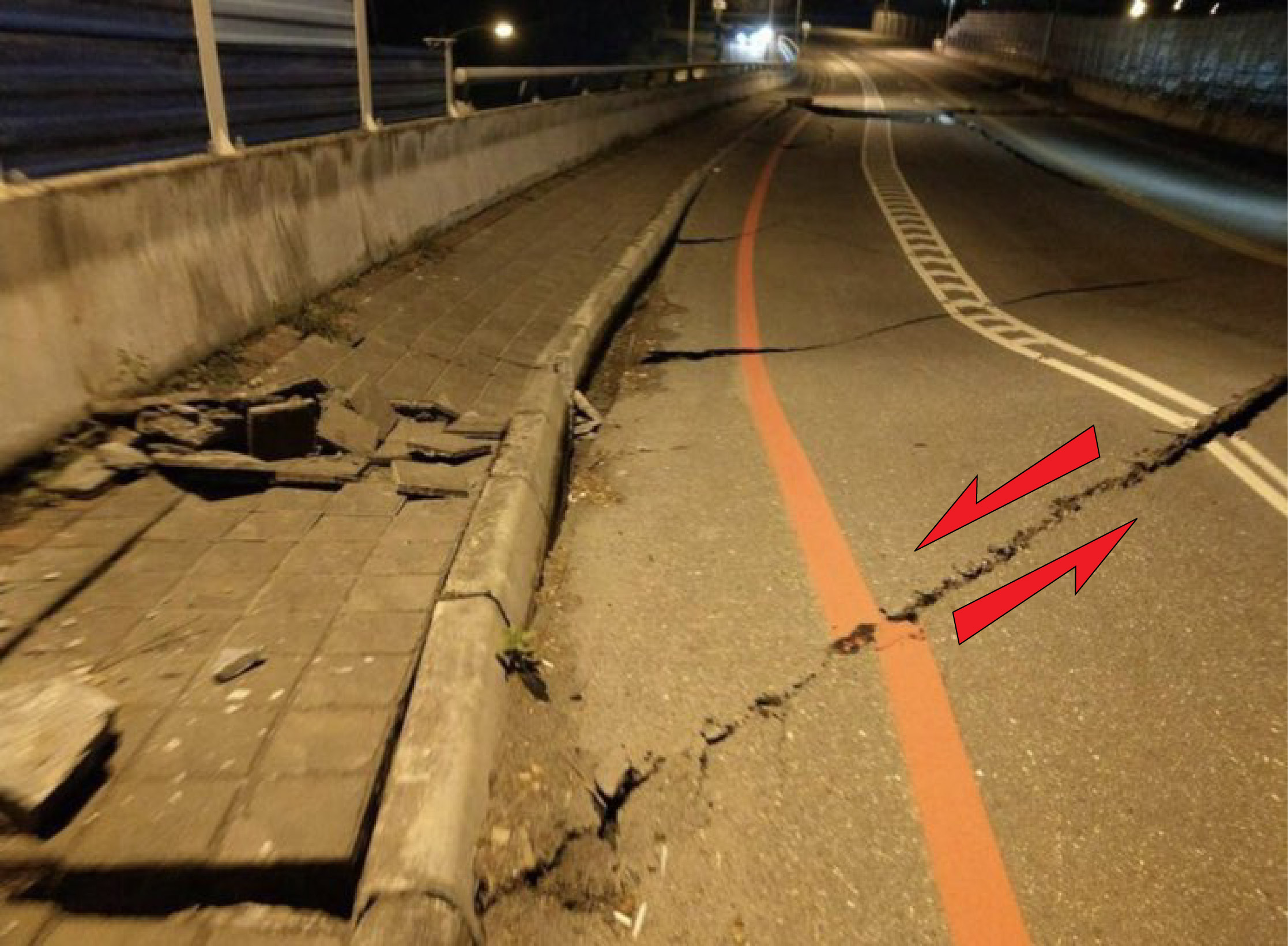 buckled-roads-strike-slip
