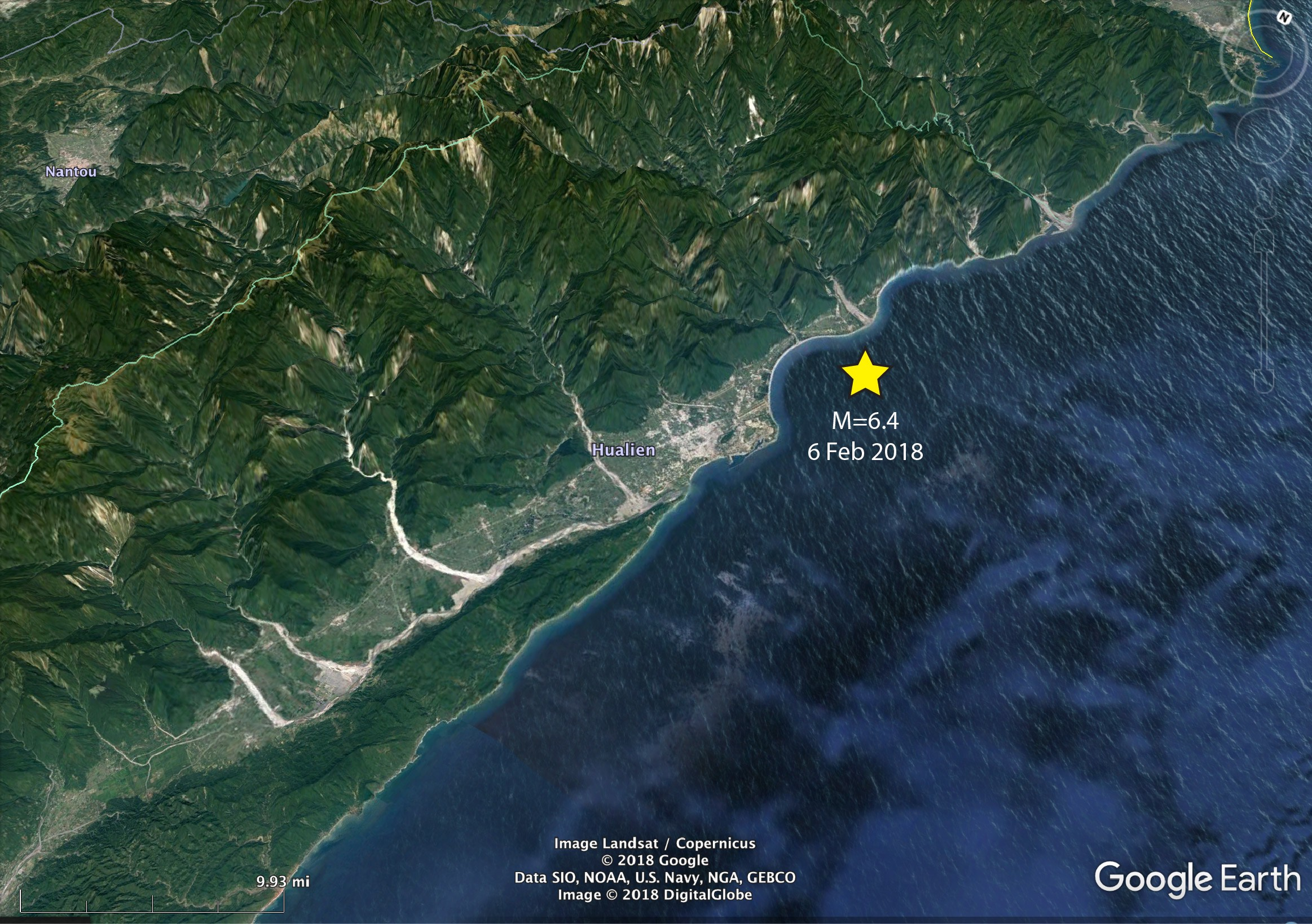 google-earth-taiwan-earthquake