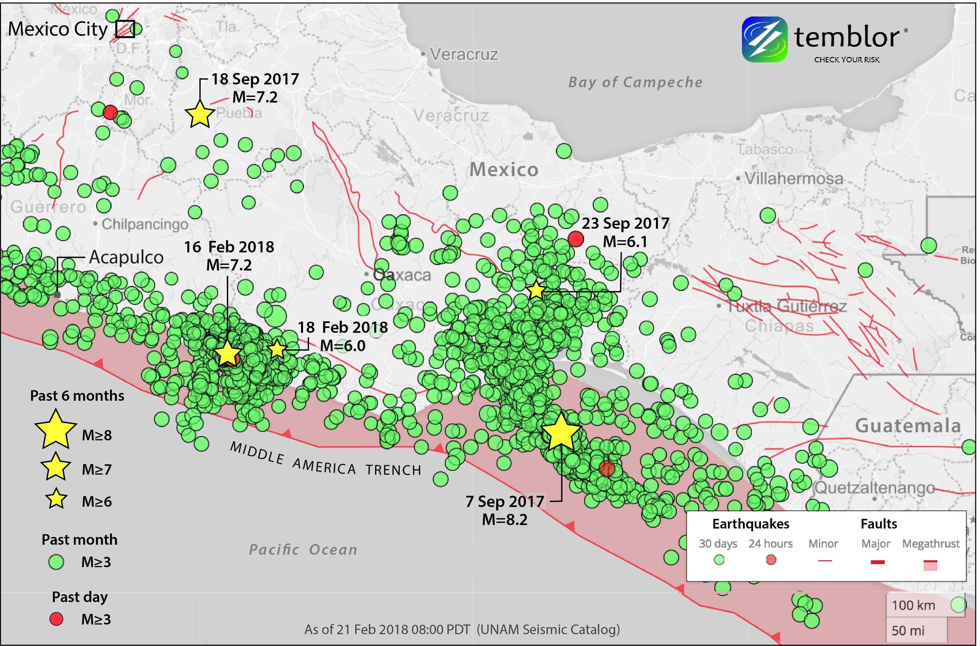 Mexico City Earthquake Map Spasm of temblors tests Earthquake Early Warning for Mexico City