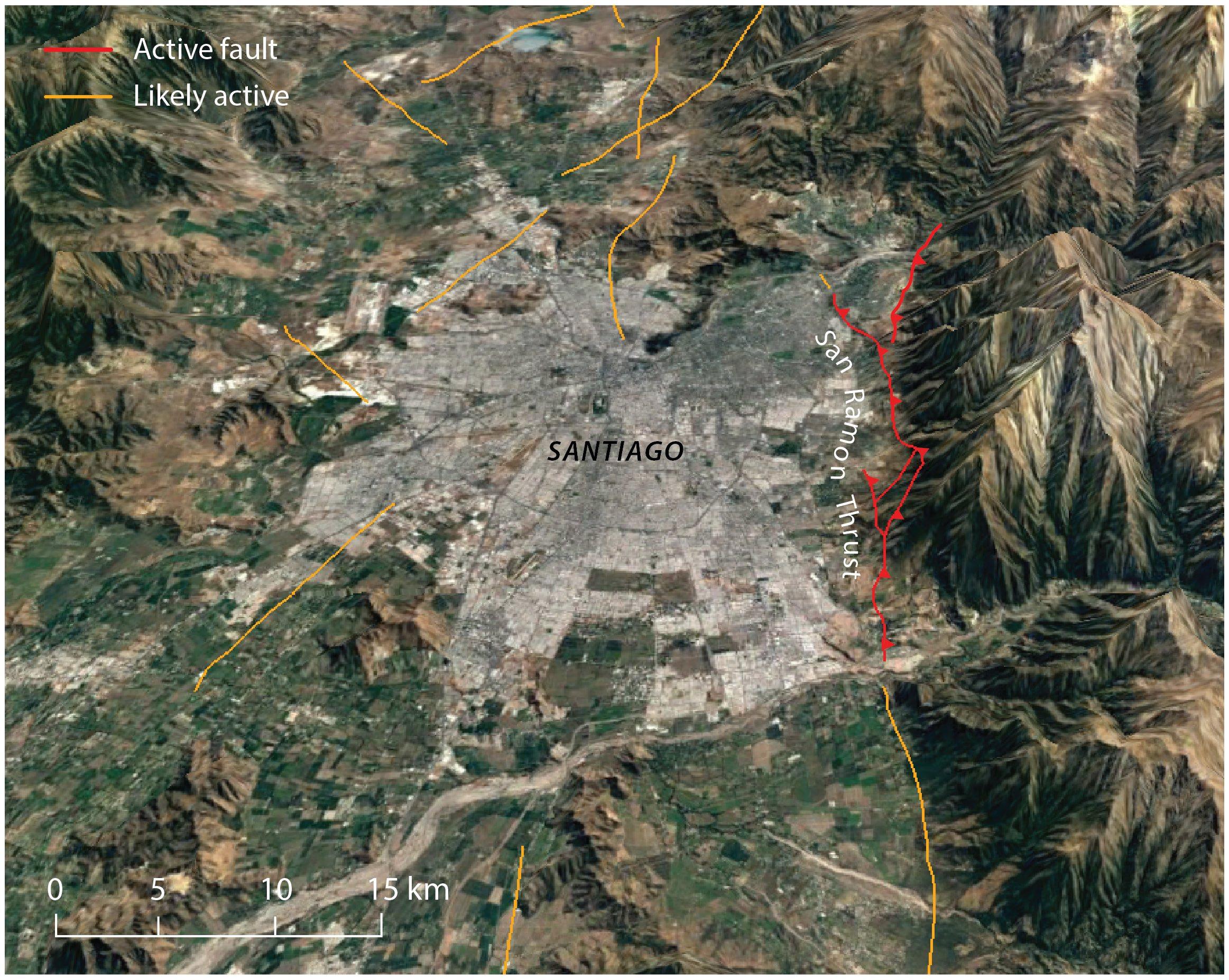 Santiago-chile-faults-san-ramon-thrust