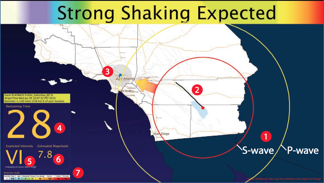 This is how people could be warned of an impending earthquake from the ShakeAlert system. Under the new spending bill, ShakeAlert's funding would not only be restored, but increased this year to help with limited public rollout. (Photo from: ShakeAlert factsheet)